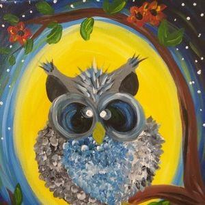 Personalized Cute Owl Painting